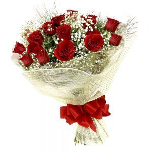 buque de rosas vermelha surprise